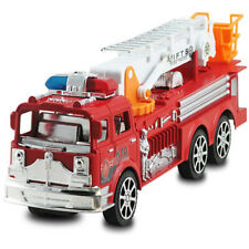 Realistic Toy Car 1:24 Ladder Fire Fighting Truck Engine Model Car for Kids Xmas