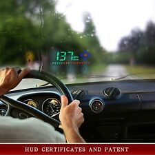 "Head Up Display 3.5"" A2 GPS Car HUD Overspeed Warning Speedometer Cigarette Port"