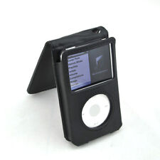 Black PU Leather Case Cover For Apple iPod thin 30gb video & 80gb 160gb classic