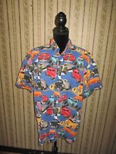 VINTAGE men's HIGH SEAS route 66 button front casual shirt - MADE IN USA / large