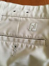 FJ Footjoy Mens Golf Pants  Polyester spendex Khaki -  Size 38x30