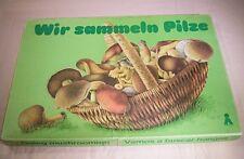"""09161.19 Plasticart DDR Würfelspiel """"Wir sammeln Pilze"""",vollständig,ab 6 Jahre"""