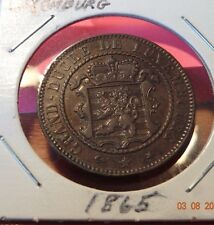 1865 Luxembourg 10 Centimes Foreign Coin Luxemburg