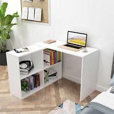 Weiß Eckschreibtisch Arbeitstisch Winkelkombination Schreibtisch Büro Computer