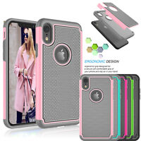 For iPhone XS Max Case/ XR Shockproof Dual Layer Hybrid Rugged Cases Phone Cover