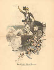 Victorian Fashions, Horse Racing, Carriage, Vintage 1891 German Antique Print