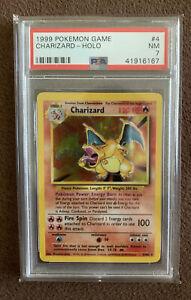 1999 Pokémon Game Base Set Charizard #4 ~ PSA 7