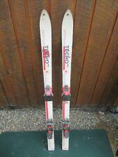 "Vintage 47"" Long Skis White TECNO Great Decoration!"