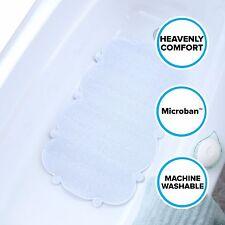 White Cloud Bath Mat: Soft, Mildew Resistant Tub Mat with Suction Cups
