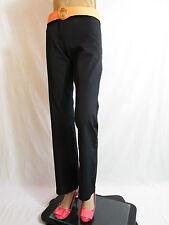 Street One Silva Long Womens Vtg Fashion Black Tailored Trousers Pants sz 8 AQ69