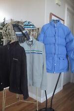 Vtg Goose Down Parka Puffy Coat, Columbia Fleece, Fossil Jacket, Gloves Knit Cap