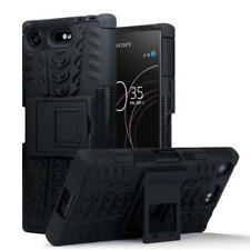 Rugged Hard Shock Case Cover for Sony Xperia XZ1 Compact - Black