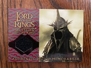 Lord of the Rings Authentic Movie Memorabilia Witch-Kings Cloak Card