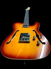 New Lightweight Tele Style 6 String Semi-Hollow Sunburst Electric Guitar