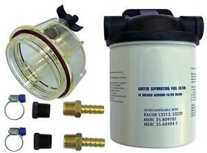 Benzinfilter Wasserabscheider mit Schauglas für Aussenborder