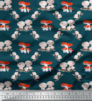Soimoi Fabric Mushroom Vegetable Print Fabric by the Yard - VG-503G