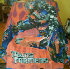 Northwest TRANSFORMERS Soft Fleece Throw Lap Blanket 2006 Blue Orange Clean