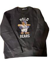 *RARE* Authentic Ralph Lauren Polo Bear Baseball Sweatshirt Sweater