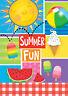 Toland Summer Fun 28 x 40 Sunshine Watermelon Picnic House Flag