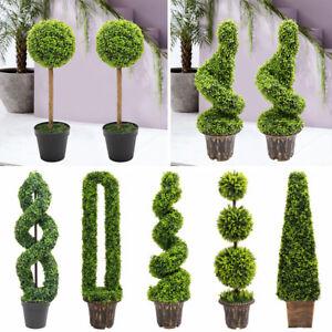 60-150cm Tall Artificial Topiary Trees Pot Standing UV Protect Wedding Xmas Deco
