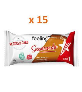 FEELING OK Savoiardo Start 1 gusto CACAO 15 pezzi