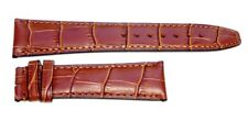 20mm Brown genuine leather Band Strap Alligator-Style for IWC