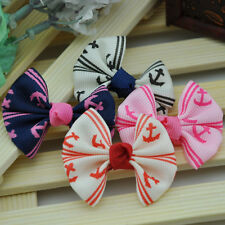 10 pcs Grosgrain Ribbon Flowers Bows Wedding Appliques/Craft Lots mix U pick B10
