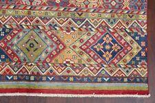 South-Western Super Kazak Wool Hand Knotted Oriental Geometric Area Rug 5' x 7'