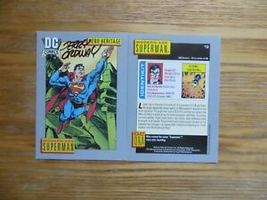 1991 DC UNIVERSE 1 MODERN AGE SUPERMAN CARD # 18 SIGNED JERRY ORDWAY ART, POA