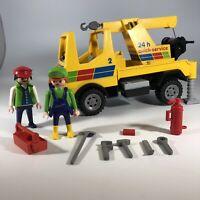 Playmobil 3438 Quick Service Tow Truck Figures Accessories Geobra Vintage 1986