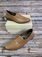 ECCO Womens Leather Slip On Shoes 44103 Womens Size 9 (42 EUR) Brown - EUC