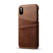 Luxury Slim PU Leather Card Slot Holder Back Case Cover for iPhone X 7 8 6S Plus