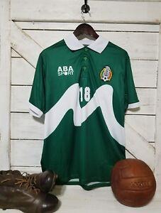 ABA Sport Mexico 1995 Blanco #18 Green Retro Jersey Size M