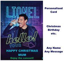 LIONEL RICHIE Hello Tour 2020 Ticket Wallet Concert Card Birthday Christmas gift