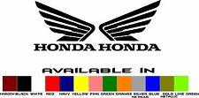 2 Honda Wing Vinyl Window Sticker 4x5.5  Racing ATV Quad Motorcycle Dirt Bike