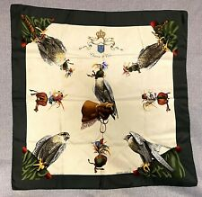"Hermes Silk Scarf ""Chasse A Vol"" - Peregrine Falcon Theme By Henri de Linares"