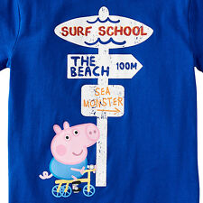PEPPA PIG GEORGE PIG SURF SCHOOL CHILDREN'S T-SHIRT SIZE 6 NEW