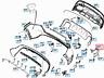 MB GLA X156  Rear Bumper Exhaust Bracket Right A1568850214 NEW GENUINE
