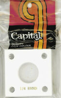 Capital Holder 2x2 For 1/4 oz.Krugerrand Coin White Acrylic Plastic Display Case