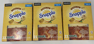 Snapple LEMON TEA K-Cups 66 ct Brew Hot Over Ice Best Before 11/28/20