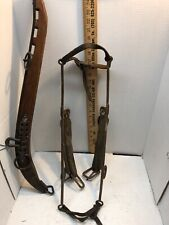 Antique Leather & Metal Horse Tack and One Vintage Harnes Frame
