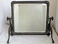 Antique Large Cast Iron Dresser / Floor Mirror Unusual Style & Rare Form 1880's