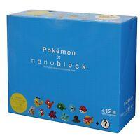 Kawada Nanoblock NBMPM_01S Mini Pokemon Series 01 Pokemon 12x Set