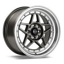 "15"" VR4 Wheels 15x8 +25 4x100/4x114.3 Set | xB Miata ACURA HONDA Civic EF EG EK"