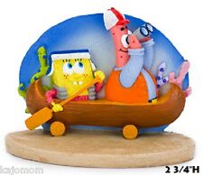 NEW SpongeBob Squarepants Fish Aquarium Ornament With Patrick in Canoe SBR45