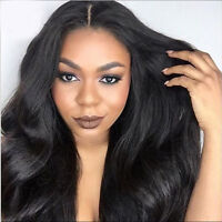 Glueless Full Lace Wigs Brazilian 100% Human Hair Natural Wave Lace Front Wigs