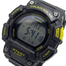 Casio tough solar powered running pro watch 120 laps illuminator montre YELLOW