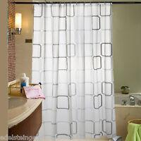 1 Duschrollo Duschvorhang Dusche Badewannenvorhang Wasserdicht Karo 180x180cm