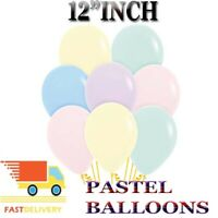 "100 PACK - 12"" PREMIUM PASTEL BALLOONS WEDDING BIRTHDAY PARTY"