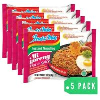 INDOMIE MI GORENG HOT & SPICY INSTANT NOODLES - 5 packs 100% HALAL